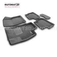 Текстильные 3D коврики Euromat3D Business в салон для Volkswagen Tiguan (2017-) (Укороченная) № EMC3D-005415.1G Серые