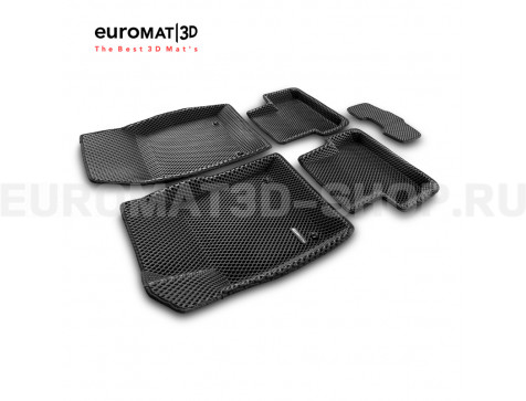 3D коврики Euromat3D EVA в салон для Chevrolet Cruze (2009-) № EM3DEVA-001504
