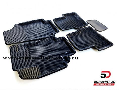 3D коврики Euromat3D EVA в салон для Hyundai Creta (2016-) № EM3DEVA-002728