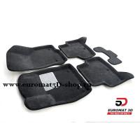 Текстильные 3D коврики Euromat3D Business в салон для SKODA Octavia A7 (2013-) № EMC3D-004507G Серые
