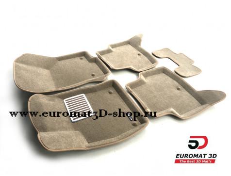 Текстильные 3D коврики Euromat в салон для AUDI A3 (2014-) № EM3D-004507T Бежевые
