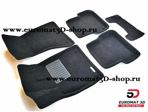Текстильные 3D коврики Euromat3D Premium в салон для AUDI A6 (2011-) № EMPR3D-001107