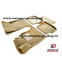 Текстильные 3D коврики Euromat в салон для BMW 5 (E60) (2003-2010) № EM3D-001204T Бежевые