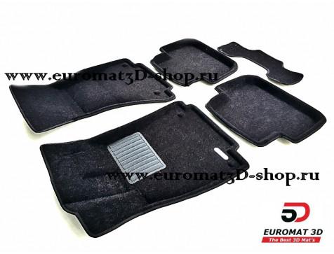 Текстильные 3D коврики Euromat3D Business в салон для AUDI A4 (2007-) № EMC3D-001103