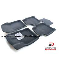 Текстильные 3D Коврики Euromat В Салон Для SKODA Kodiaq (2017-) № EM3D-004512G Серые