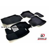 Текстильные 3D коврики Euromat3D Lux в салон для Toyota Rav 4 (2019-) (МКПП) № EM3D-005105.1